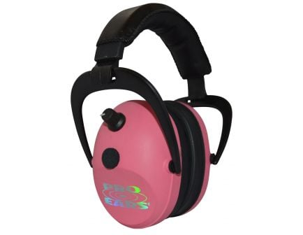 Pro Ears Gold II 26 dB Over the Ear Electronic Earmuff, Pink - PEG2SMP