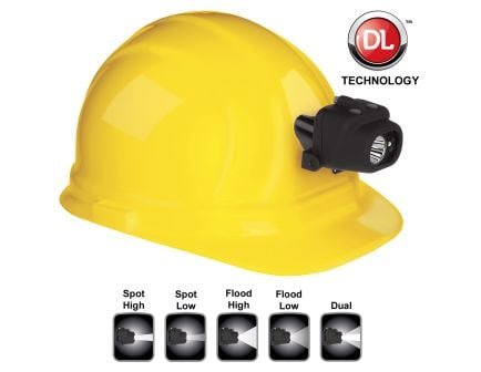 Bayco Products Nightstick Dual-Light LED Headlamp w/ Hard Hat Clip, Black - NSP-4608BC