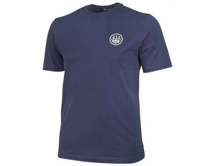 Beretta Large Cotton Short Sleeve T-Shirt, Beretta Logo, Navy - TS6217141605