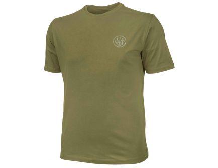 Beretta Large Cotton Short Sleeve T-Shirt, Beretta Logo, Green - TX621T141607