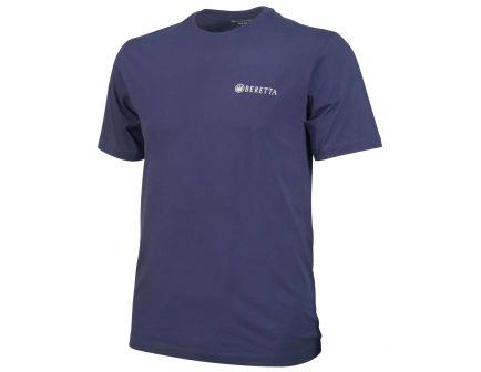 Beretta Medium Cotton Short Sleeve T-Shirt, Trident Logo, Navy - TS631T14160530M