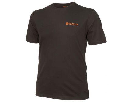 Beretta Medium Cotton Short Sleeve T-Shirt, Trident Logo, Black - TS631T14160999M