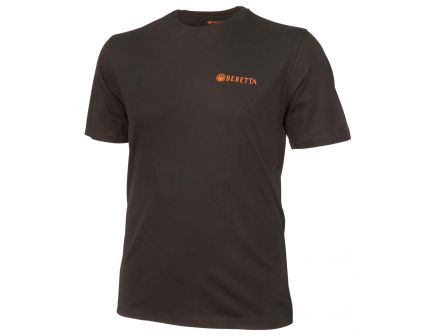 Beretta Large Cotton Short Sleeve T-Shirt, Trident Logo, Black - TS631T14160999L