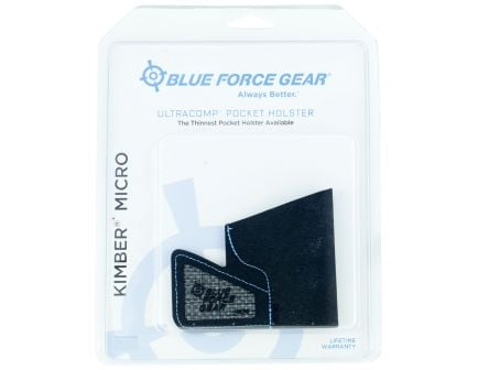 Blue Force Gear ULTRAcomp Right Hand Kimber Micro .380 Inside-The-Pocket Holster, Black - MHOLSTERMICRO01B