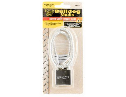 Bulldog Cases Keyed Cable Trigger Lock w/ Key for Handguns/Rifles/Shotguns/MSR's, Black - BD8011