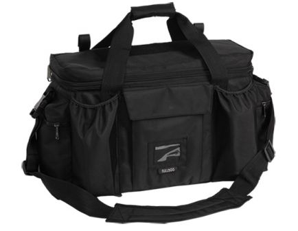 Bulldog Cases Deluxe, Water-Resistant Police and Shooters Range Bag w/ Strap, X-Large, Black - BD920