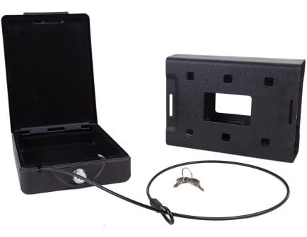 Bulldog Cases Personal Gun Safe Car Vault w/ Key Lock, Matte Powder Painted Black - BD1100