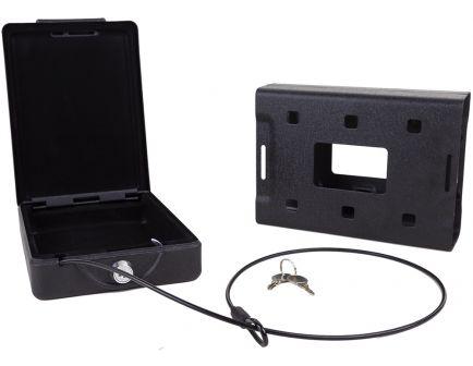 Bulldog Cases Personal Gun Safe Car Vault, Matte Powder Painted Black - BD1150