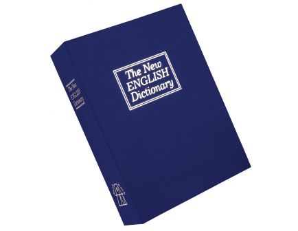 Bulldog Cases Deluxe Diversion Book Safe Vault w/ Combo Lock and Foam Interior, Blue - BD1180