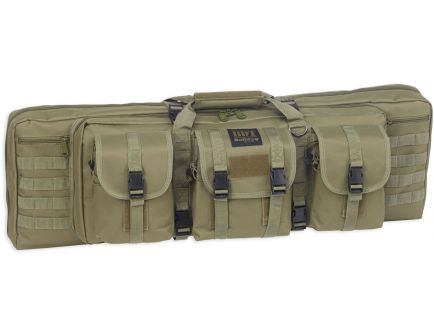 "Bulldog Cases BDT Tactical Double Rifle Bag, 43"", Green - BDT60-43G"