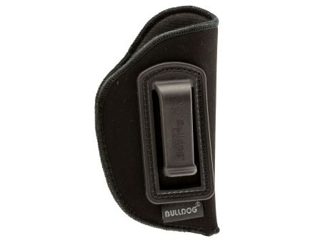 Bulldog Cases Deluxe Right Hand Ruger LCP Mini Inside-The-Pant/Waistband Holster w/ Polymer Clip, Black - DIP-1