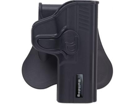 Bulldog Cases Right Hand Glock 42 Rapid Release Hip Holster, Black - RR-G42