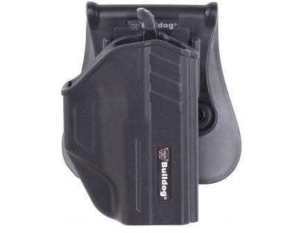 Bulldog Cases Right Hand Glock 43 Thumb Release Holster w/ Universal Magazine Holder, Black - TR-G43