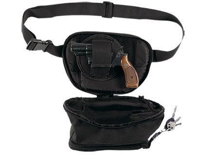 Bulldog Cases Medium Ambidextrous Hand Outside-The-Waistband Fanny Pack Holster, Black - BD860