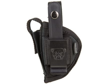 """Bulldog Cases Extreme Size 12 Ambidextrous Hand 3"""" to 4"""" S&W J/K/L/N Outside-The-Waistband Holster w/ Clam Shell Packaging, Smooth Black - FSN-12"""