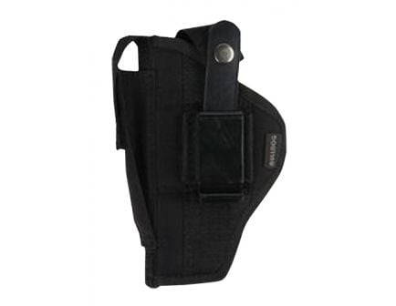 """Bulldog Cases Extreme Size 20 Ambidextrous Hand 2"""" to 3"""" Glock 42/43 Outside-The-Waistband Holster w/ Clam Shell Packaging, Smooth Black - FSN-20"""