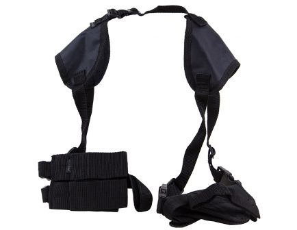 Bulldog Cases Deluxe Shoulder 15 Horizontal Harness w/ Holster and Ammo Pouch, Nylon Black - WSHD15