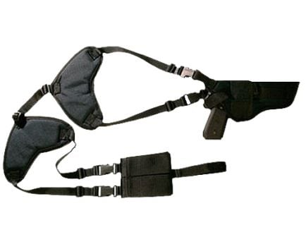 Bulldog Cases Deluxe Shoulder 31 Horizontal Harness w/ Holster and Ammo Pouch, Nylon Black - WSHD31