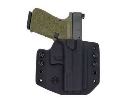 C&G Holsters Right Hand Glock G19/G23 Outside the Waistband Holster, Black - 001100