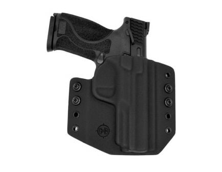 C&G Holsters Right Hand S&W M&P Shield 9/40mm Outside the Waistband Holster, Black - 067100