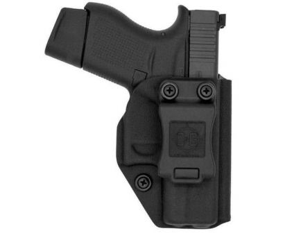 C&G Holsters Right Hand S&W Shield 9/40mm Inside the Waistband Holster, Black - 068100