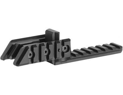 CAA Aluminum Front Sight 1-Piece Triple Picatinny Rail, Black - XF3
