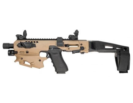 CAA MCK Advanced Micro Conversion Kit for Glock 17, 19, 19X Gen 3-5 Pistols, Flat Dark Earth - MCKTA