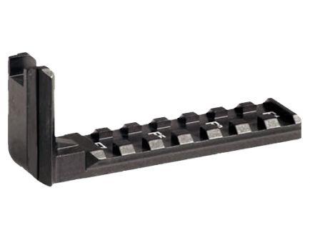 CAA TPR15/X6 Aluminum Flashlight/Laser Mount Forward Rail, Black - FR1