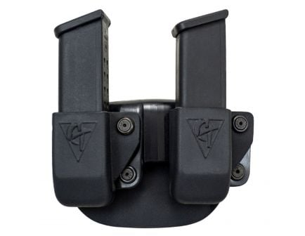 Comp-Tac Victory Gear Left Side Carry Outside the Waistband Twin Magazine Pouch Belt Clip for Glock 9mm/40S&W/45 GAP, Black - 10623-C62304000LBKN
