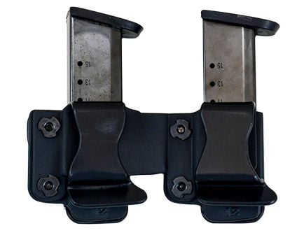 Comp-Tac Victory Gear Left Side Carry Outside the Waistband Twin Magazine Pouch for 1911, Kahr, Spring XD-S, Sig P220 9mm/.45 ACP Handgun, Black - 10623-C62301000LBKN