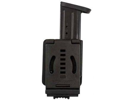 Comp-Tac Victory Gear PLM Left Side Carry Outside the Waistband Single Magazine Pouch for 1911, Kahr, Spring XD-S, Sig P220 9mm/.45 ACP Handgun, Black - 10621-C62101000LBKN