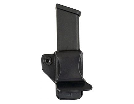 Comp-Tac Victory Gear Left Side Carry Outside the Waistband Single Magazine Pouch for Glock 43 9mm Pistol, Black - 10621-C62143000LBKN