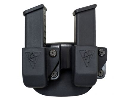 Comp-Tac Victory Gear Left Side Carry Outside the Waistband Twin Magazine Pouch Belt Clip for Sig P229/320 9mm Luger/40 S&W, Black - 10623-C62312000LBKN