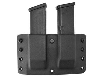 Comp-Tac Victory Gear Twin Warrior Inside/Outside the Waistband Dual Magazine Pouch for Glock 9mm/.40 S&W/.45 GAP Pistols, Black - 10709-C70904000NBKN