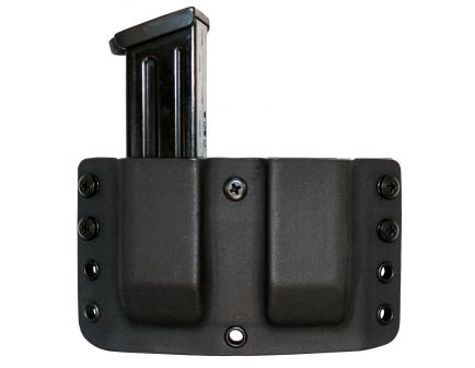 Comp-Tac Victory Gear Twin Warrior Inside/Outside the Waistband Dual Magazine Pouch for HK P30/P30L/VP9, 40/P2000/P2000SK 9mm/.40 S&W Pistols, Black - 10709-C70923000NBKN