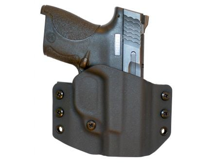 Comp-Tac Victory Gear Warrior Right Hand S&W M&P Shield 9/40mm Stealth Footprint Outside the Waistband Holster, Black - 10708-C708SW146RBKN