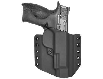 """Comp-Tac Victory Gear Warrior Right Hand S&W M&P 4"""" 1.0/2.0 9/40/45mm Slide Stealth Footprint Outside the Waistband Holster, Black - 10708-C708SW227RBKN"""