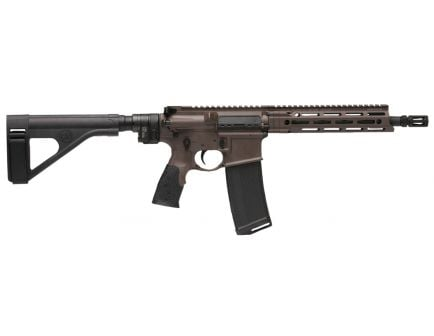 Daniel Defense DDM4 V7 P (Law Tactical) .300 Blackout Semi-Automatic AR Pistol, Cerakote Brown - 12809263067