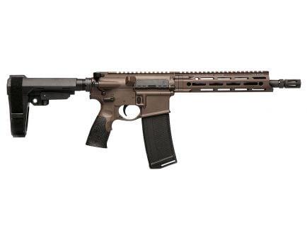 Daniel Defense DDM4 V7 P 5.56 Semi-Automatic AR Pistol, Cerakote Brown - 02-128-18052