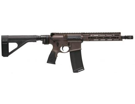 Daniel Defense DDM4 V7 P (Law Tactical) .223 Rem/5.56 Semi-Automatic AR Pistol, Cerakote Brown - 02-128-19050