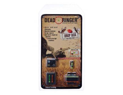 Dead Ringer Drop Box Front/Rear Sight for Many Ribbed Shotguns, Black Frame - DR4454