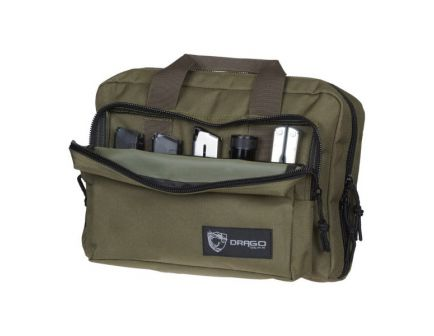 Drago Gear Water-Resistant Double Pistol Case, Green - 12-315GR