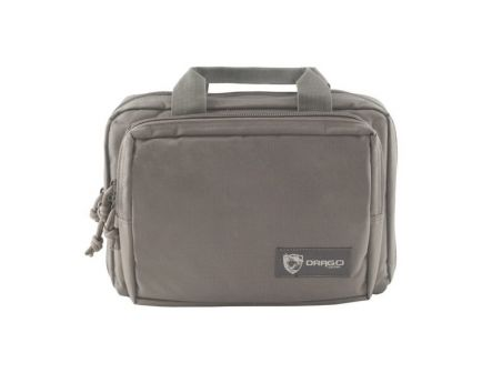 Drago Gear Water-Resistant Double Pistol Case, Gray - 12-315GY