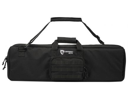 "Drago Gear Tac-S Compact Pistol Grip Shotgun Case, 29"", Smooth Black - 12-307BL"