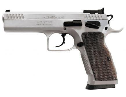 EAA Corp Tanfoglio Witness Elite Stock II 10mm Pistol, Chrome - 600615