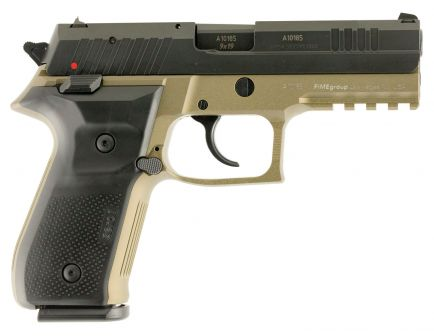 Fime Group Rex Zero 1 Standard Black Dark Earth 9mm Pistol, Hardcoat Anodized FDE - REXZERO1S-03