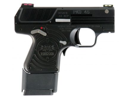 Heizer Defence PKO .45 ACP Semi-Automatic Pistol, Jet Black - CKH45JTBLK