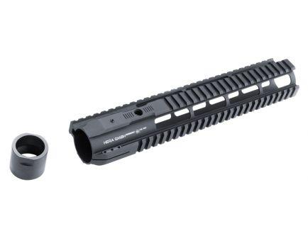 """Hera USA IRS 12"""" AR-10 Quad Rail Free Float Handguard, Black - 110523"""