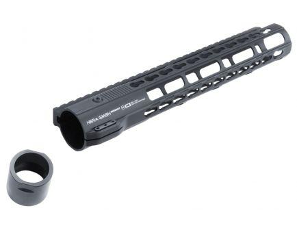 """Hera USA IRS Keymod 12"""" AR-10 Quad Rail Free Float Handguard, Black - 110526"""