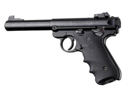 Hogue Grip w/ Finger Grooves for Ruger MK IV Pistol, Black - 79000
